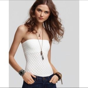 FREE PEOPLE Honey Textured Tube Top Size M/L